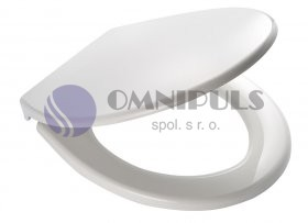 Ridder MIAMI 02101101 WC sedátko, soft close, PP termoplast - bílá 44,3 × 37 cm