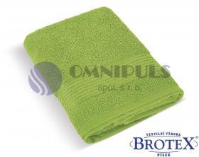 Brotex Froté ručník 50x100cm proužek 450g olivová
