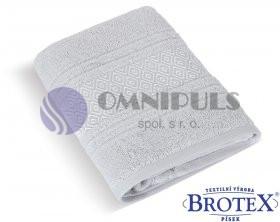 Brotex Froté osuška Mozaika 550g světle šedá 70 x 140 cm