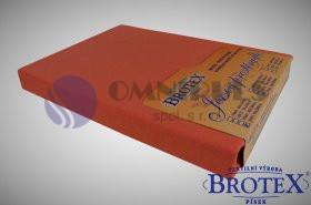 Brotex Jersey prostěradlo na jednolůžko 90*200cm, terra (050)
