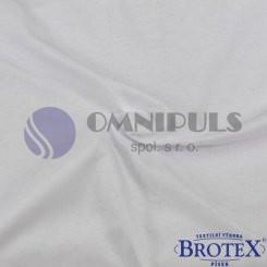 Brotex Jersey prostěradlo na jednolůžko 90*200cm, bílé (001)