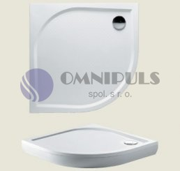 Riho Kolping DB14 90x90x3cm z litého mramoru sprchová vanička (R55)