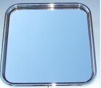 ASV Kovex zrcadlo v rámu chromlak, 44x44 cm