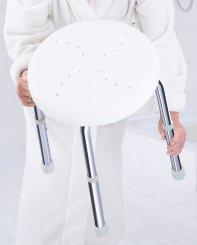 Ridder Premium A170101 Stolička s nastavitelnou výškou, sedák bílý děrovaný, nosnost 150 KG