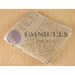 Brotex Froté ručník 50x100cm proužek 450g tmavě béžová