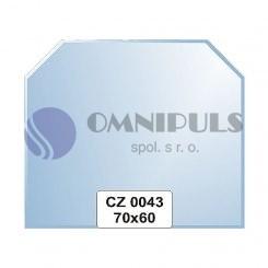 Ellux Zrcadlo šestiúhelník s fazetou FBS CZ - 0043 (rozměr 70*60cm)