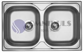 Sinks CLASSIC 800 DUO V matný, nerezový dřez