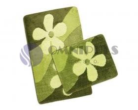 Koupelnové předložky SADA ULTRA 60x100+60x50cm, Magnolie zelená