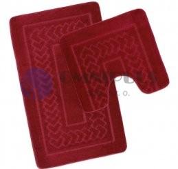Bellatex koupelnové předložky Červené Bolzáno, 60 x 100, 60 x 50 cm