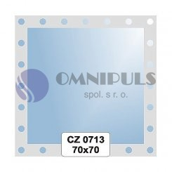 Ellux Ornamentální zrcadlo čtvercové FBS CZ - 0713 (rozměr 70*70cm)