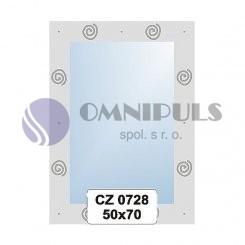 Ellux Ornamentální zrcadlo obdélníkové FBS CZ - 0728 (rozměr 50*70cm)