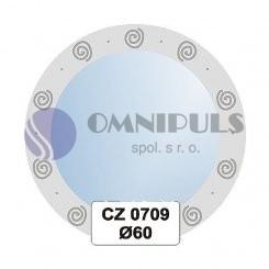 Ellux Ornamentální zrcadlo kulaté FBS CZ - 0709 (průměr 60cm)