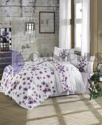 Brotex povlečení bavlna Lorieta purple zipový uzávěr 140x200 70x90