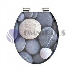 Eisl Sanitär Grey Stones 80130, Wc sedátko, MDF, soft close