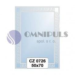 Ellux Ornamentální zrcadlo obdélníkové FBS CZ - 0726 (rozměr 50*70cm)