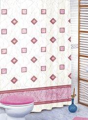 Brotex Růžové čtverce 180 x 200 cm závěs
