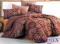 Brotex Povlečení bavlna Ivory brown zipový uzávěr 140x200 70x90