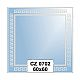 Ellux Ornamentální zrcadlo čtvercové FBS CZ - 0702 (rozměr 60*60cm)