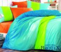 Brotex Povlečení bavlna Colorful blue - zipový uzávěr 140x200 70x90